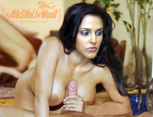 Neha Dhupia Nude in Swimming Pool n Giving Blowjob [Fake]